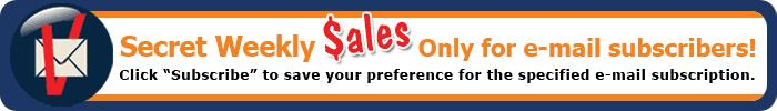 secret weekly sales